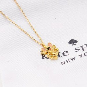 Kate Spade Golden Mouse Cute Necklace